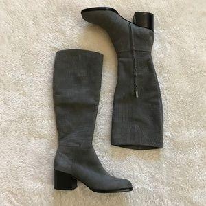 Sam Edelman Joelle Gray Boot Croc Texture 7